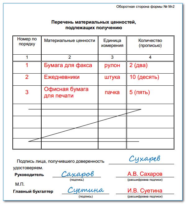 Доверенность на получение товара: срок действия и образец заполнения
