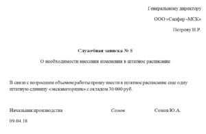 Изменение штатного расписания в связи с оптимизацией: на примере введения новой должности, а также еще причины и обоснования для внесения правок, образцы документов