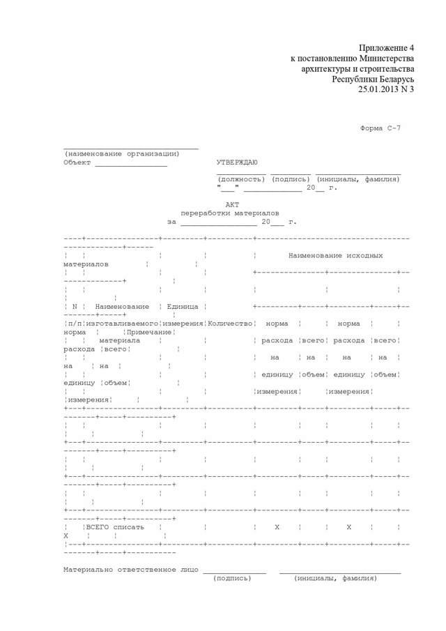 Акт на списание материалов: образец составления документа