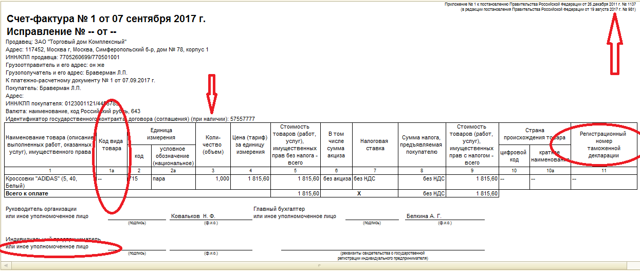 Заполнение счета-фактуры на аванс: образец документа, правила оформления, а также практические примеры того, что писать в наименовании товара и других графах