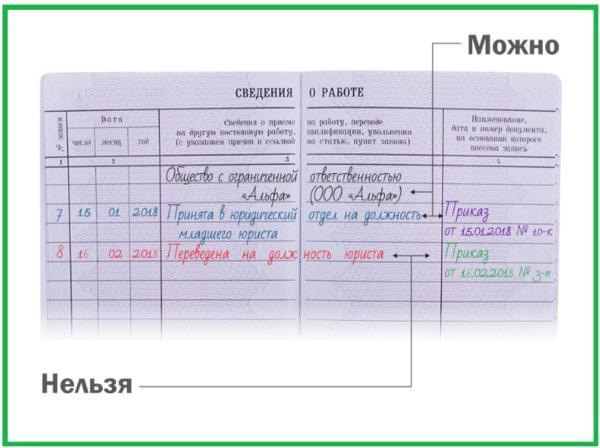 Правила заполнения трудовой книжки работника: инструкция по ведению