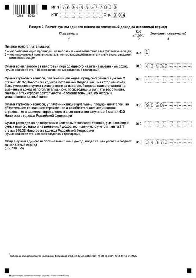 Налоговая декларация по единому вмененному доходу, что это такое: форма документа и особенности, объекты налогообложения, кто и когда должен заполнять и сдавать, когда платить налог?